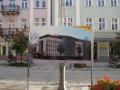 Tablice promujące budynek Energis na ulicy Sienkiewicza w Kielcach